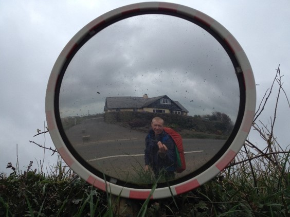 Camera in circular mirror