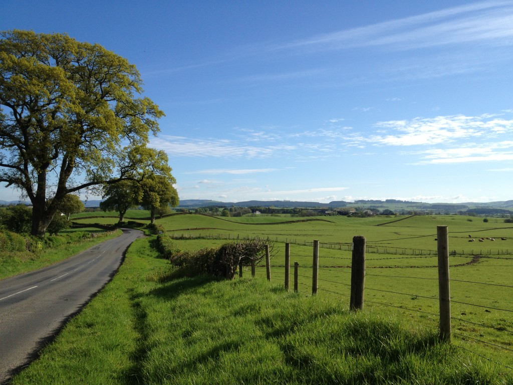 Beautiful Britain clothed in springtime green - near Lochmaben