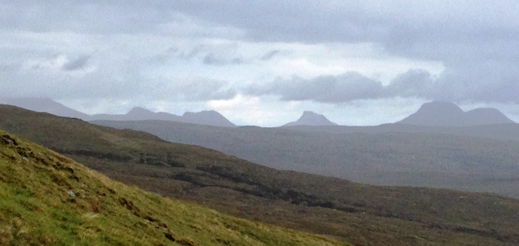 Stac Pollaidh and the Coigach mountains from above Glen Douchary - lifted the spirits on a tough day