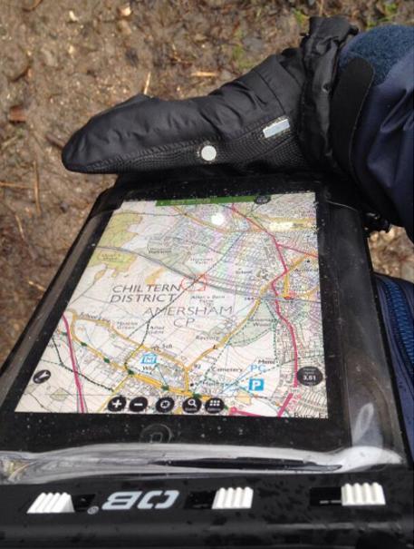 iPad in waterproof case