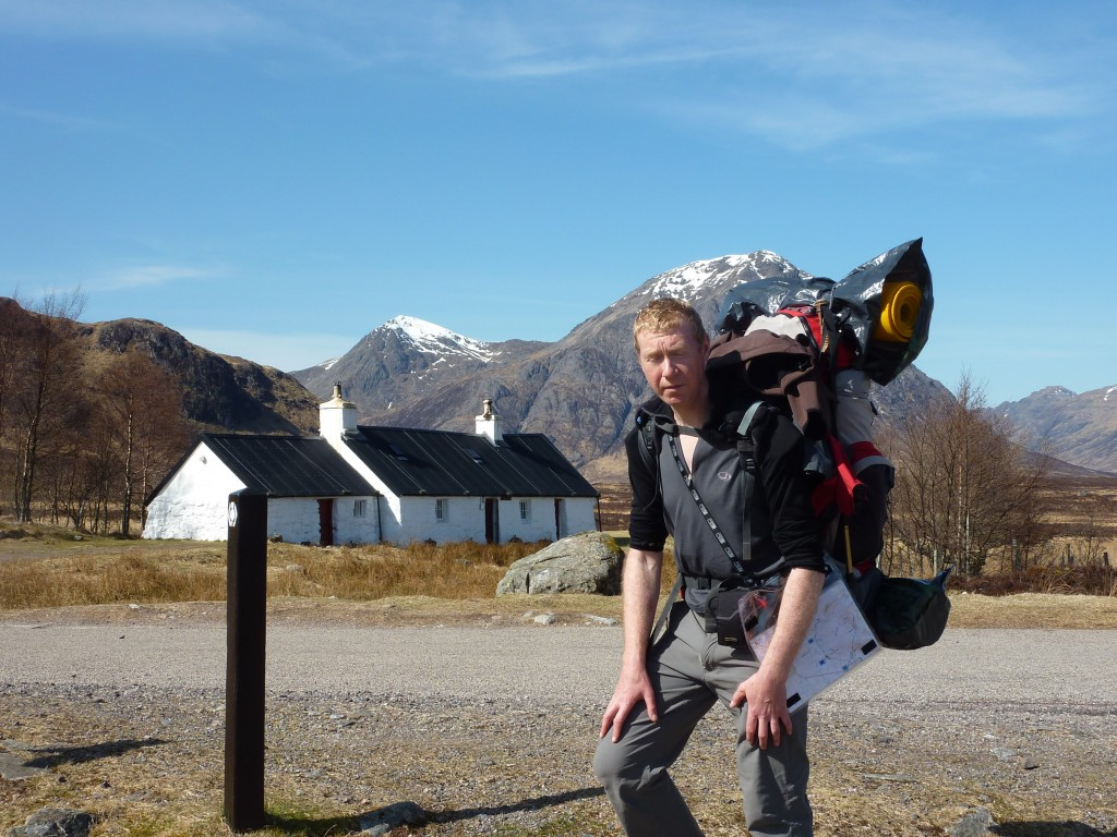 """Beast of burden"" on the West Highland Way in 2010"