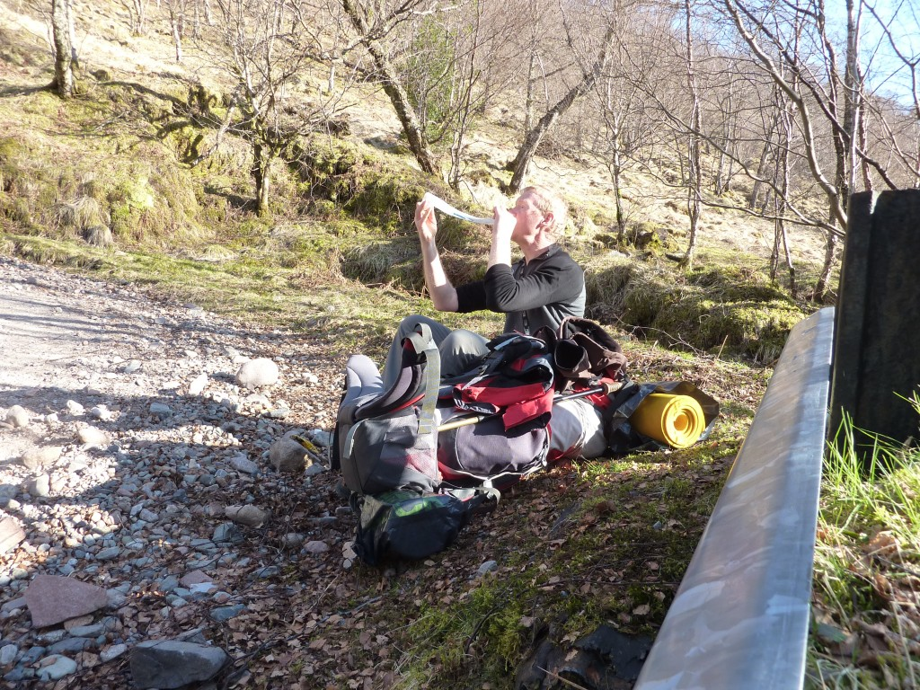 Massive backpack on West Highland Way in 2010